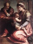 Holy Family Barberini cross stitch pattern