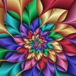 Fractal 683 counted cross stitch pattern