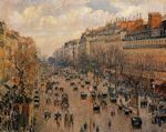 Blvd. Montmarte, Afternoon Sunlight cross stitch pattern