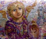 Download Guardian and Gabriel cross stitch pattern