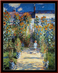 Artists Garden at Vetheuil cross stitch pattern
