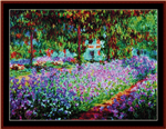 Artists Garden at Giverny cross stitch pattern