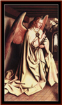Angel of the Annunciation cross stitch pattern