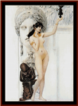 Allegory of Sculpture cross stitch pattern
