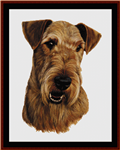 Airedale cross stitch pattern