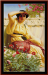 A Tryst, 1912 counted cross stitch pattern by Kathleen George at Cross Stitch Collectibles