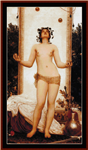 Antique Juggling Girl cross stitch pattern