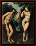 Adam and Eve cross stitch pattern