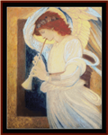 Angel Playing Flageolet cross stitch pattern