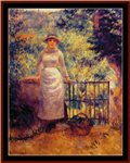 Aline at the Gate cross stitch pattern