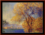 Antibes from the Dalis Gardens cross stitch pattern