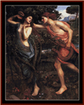 Apollo and Daphne cross stitch pattern