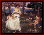 A Song of Spring, 1913 counted cross stitch pattern by Kathleen George at Cross Stitch Collectibles