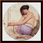A Grecian Girl, 1908 cross stitch pattern