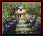 A Pathway in Monet's Garden cross stitch pattern