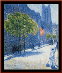 53rd St, May, New York cross stitch pattern