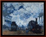 Arrival of a Train cross stitch pattern