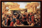 Adoration of the Magi, 1500 cross stitch pattern