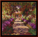 A Pathway in the Garden cross stitch pattern