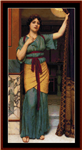 A Pompeiian Lady, 1916 cross stitch pattern