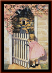 At the Garden Gate cross stitch pattern