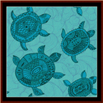 Abstract Turtles cross stitch pattern