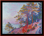 Above Saint-Tropez counted cross stitch pattern by Kathleen George at Cross Stitch Collectibles